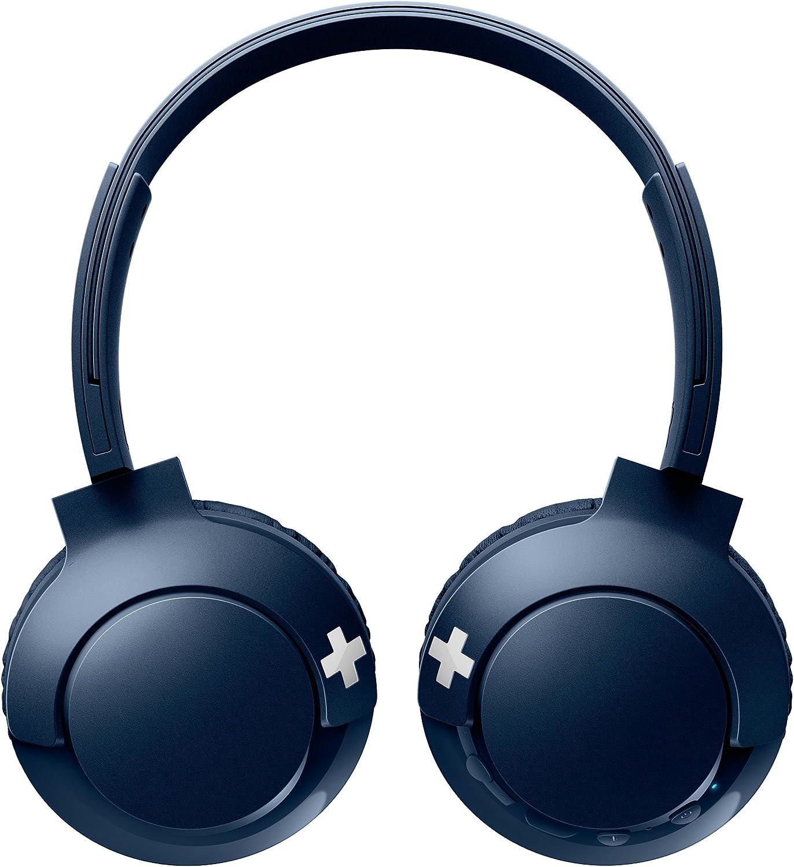 Philips SHB3075BL - Auriculares Inalambricos (con micrófono, aislantes de ruido, plegables, 12 h dereproducción) azul