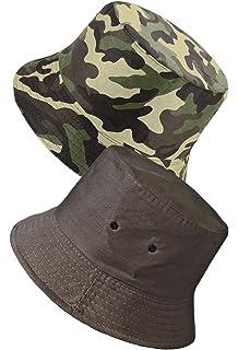 LUFA P/êcheur Summer Cotton Safari Randonn/ée Bucket Hat Sun Adjustable Cap /écrasable 13 Couleurs