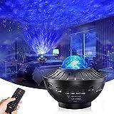 Projetor de Luz Noturna - Projetor Skylight com alto-falante de música Bluetooth, com 21 Modos de Iluminação, Bluetooth, Cont