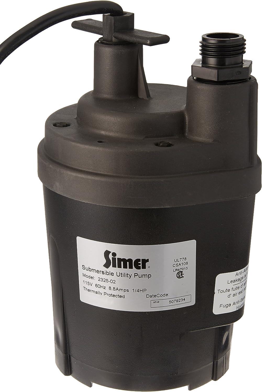 Simer 2325 1/4 HP Submersible Utility Pump