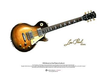 Art Cartel de 1959 Gibson Les Paul guitarra de Slash, tamaño A3: Amazon.es: Hogar