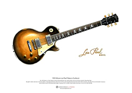 Art Cartel de 1959 Gibson Les Paul guitarra de Slash, tamaño A3 ...