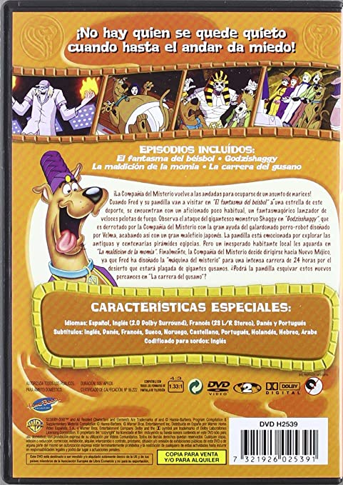 Scooby Doo 4: La Maldición De La Momia [DVD]: Amazon.es: Cine y Series TV