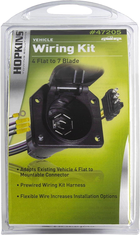 hopkins 7 blade wiring diagram amazon com hopkins 47205 taillight adapter 4 flat to 7 blade  hopkins 47205 taillight adapter