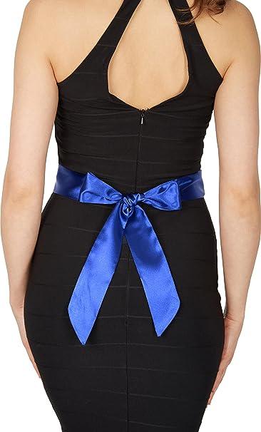 BlackButterfly Satén Cinta Comtirón Boda Dama De Honor (Azul cobalto, 5 x 175 CM
