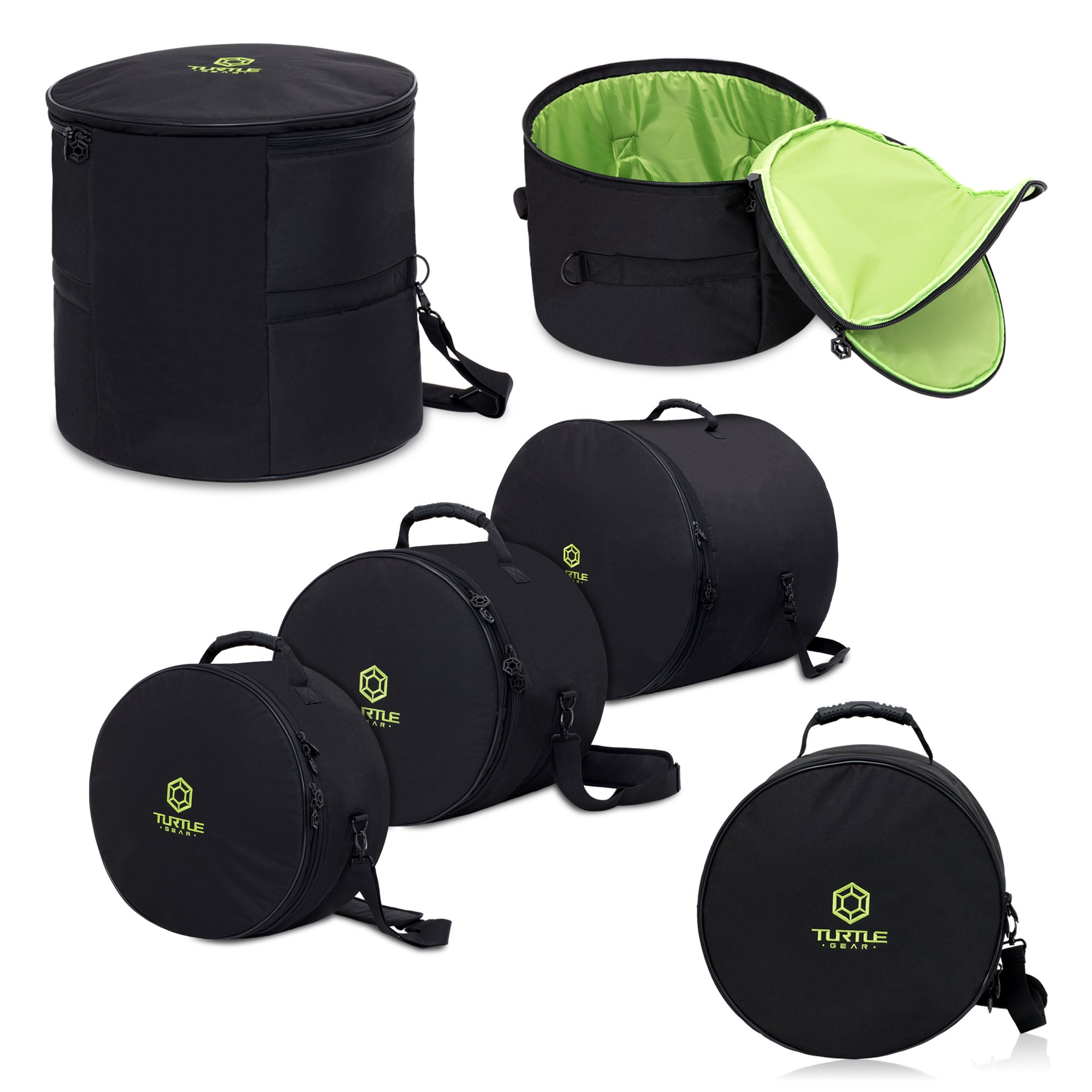 TURTLE GEAR Extra Thick Padded Nylon Drum Case Bags: Standard 5-piece Set by Turtle Gear (Image #1)
