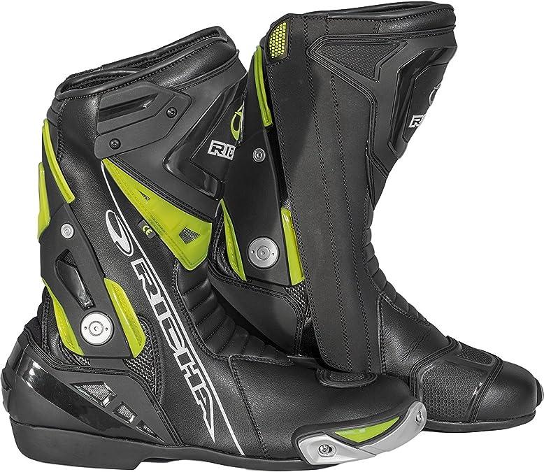 Richa Blade Wasserdichte Motorrad Stiefel Schwarz 5060413813784 Schwarz Neon Gelb 43 Richa Motorcycle Clothing Schuhe Handtaschen