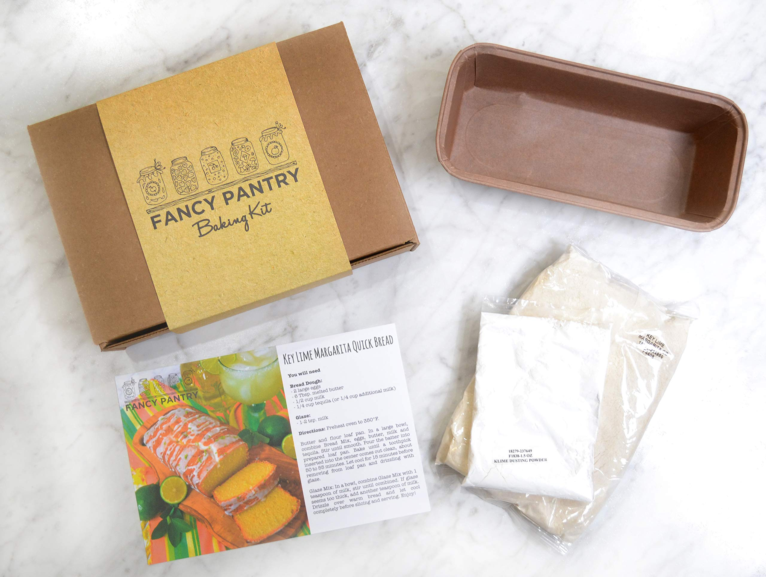 Fancy Pantry Key Lime Margarita Quick Bread Mix and Pan, 17.5 Ounce