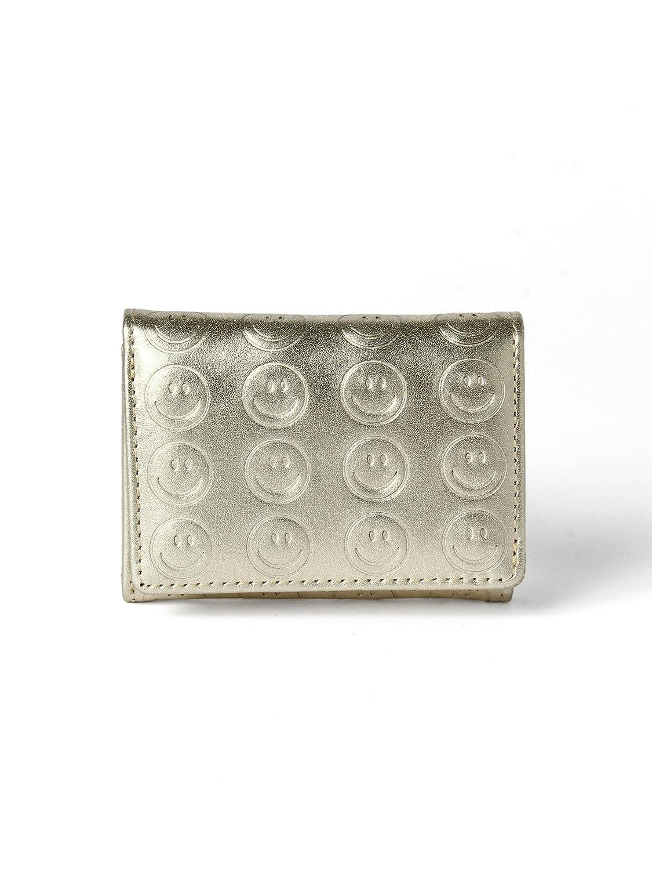 (レイビームス) Ray BEAMS/財布 スマイル 三つ折り財布 レディス B0779S3QV2  ゴールド One Size