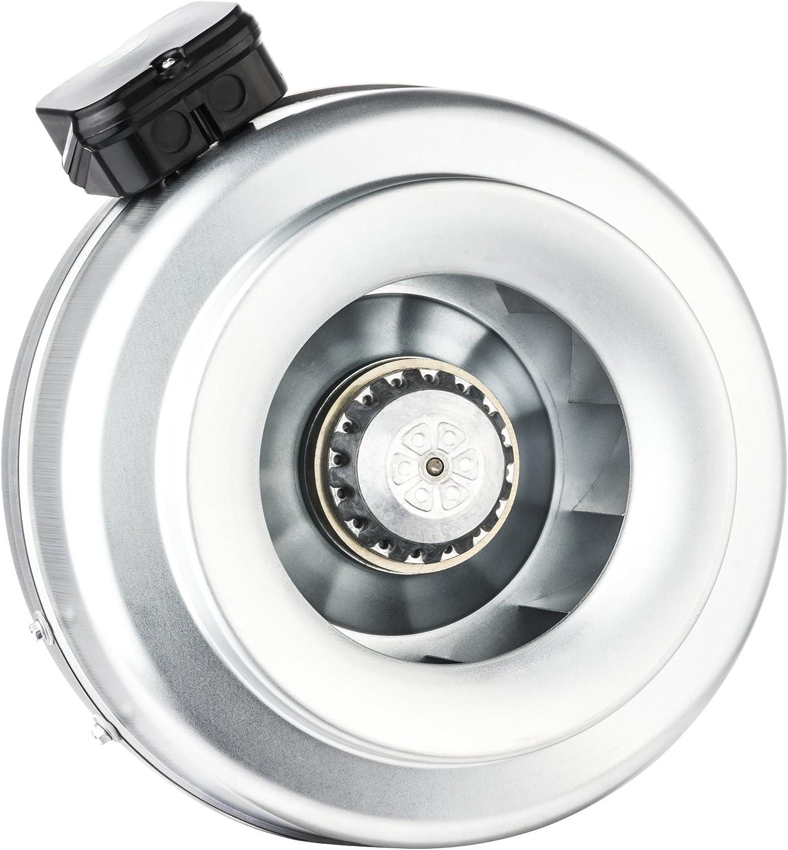 Bdtx Rohrventilator Rohrlüfter Radiallüfter Metall Abluft