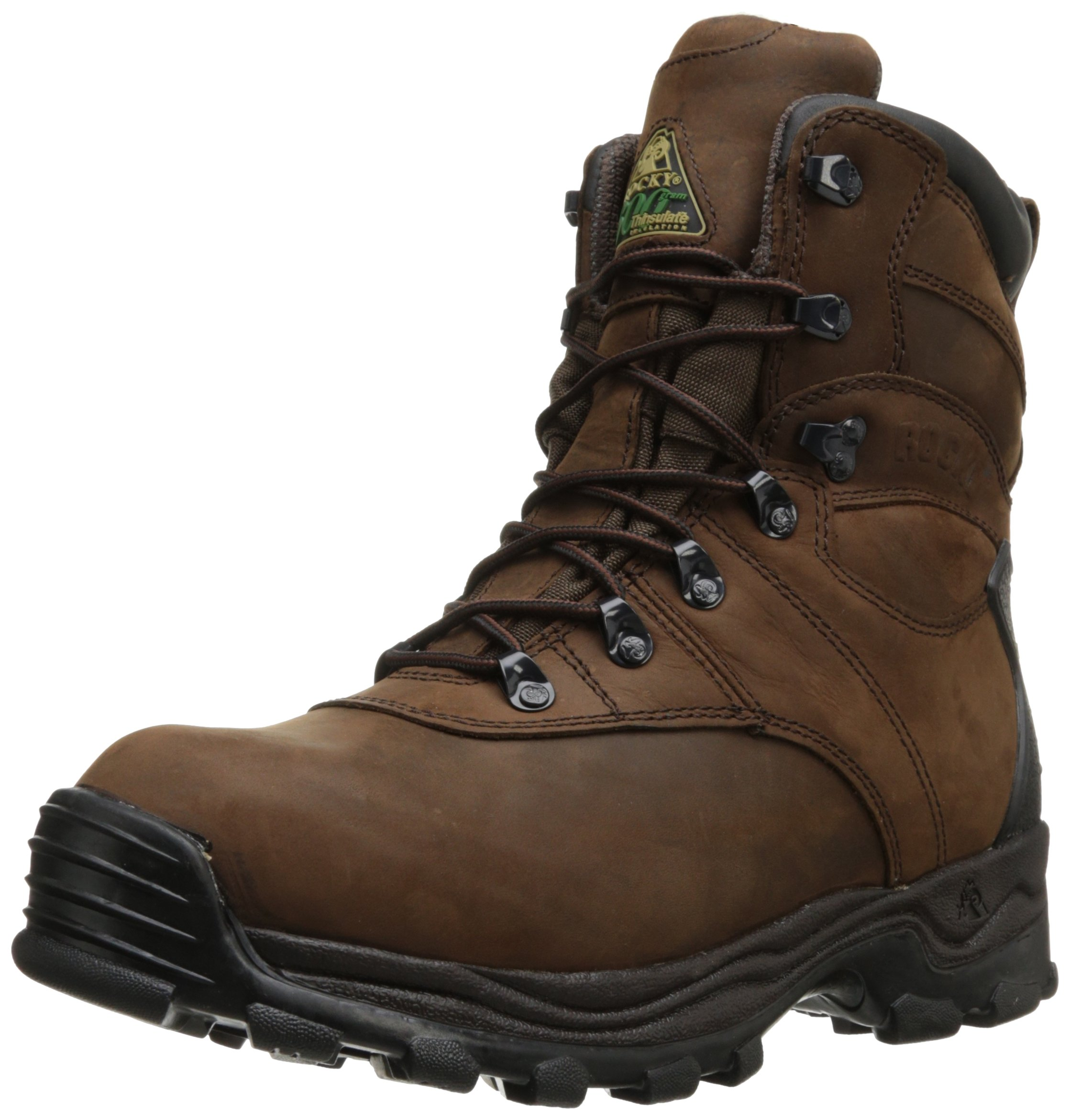 Rocky Men's Sport Utility Seven Inch Hunting Boot,Brown Leather,12 W US