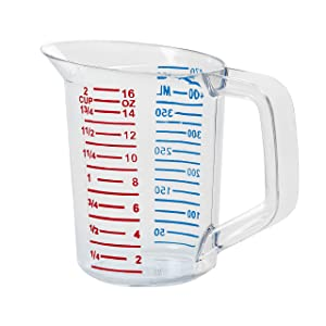Rubbermaid Commercial Bouncer Measuring Cup, 1 Pint, Clear, FG321500CLR