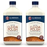 Guardsman Clean & Polish For Wood Furniture - Cream Polish 16 oz - Silicone Free, UV Protection - 461500-2 PACK
