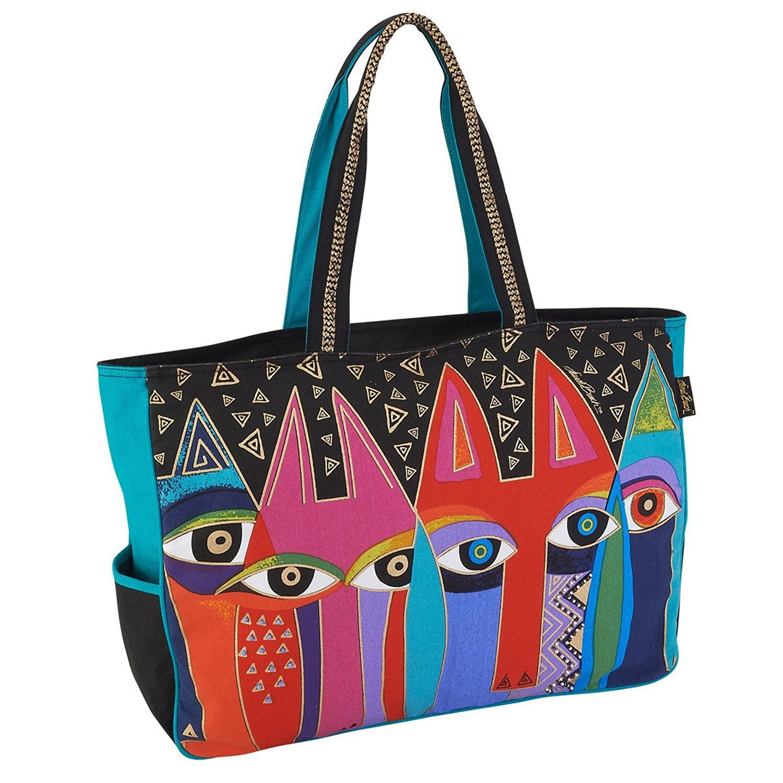 26bf7313862 Laurel Burch Tribal Cats Oversized Tote Handbag Purse: Handbags: Amazon.com