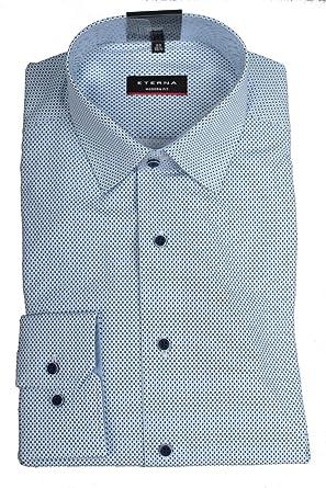 Hemd Eterna Classic Bügelfreie Karo 100% Baumwolle kragen Button Down Lange Ärmel