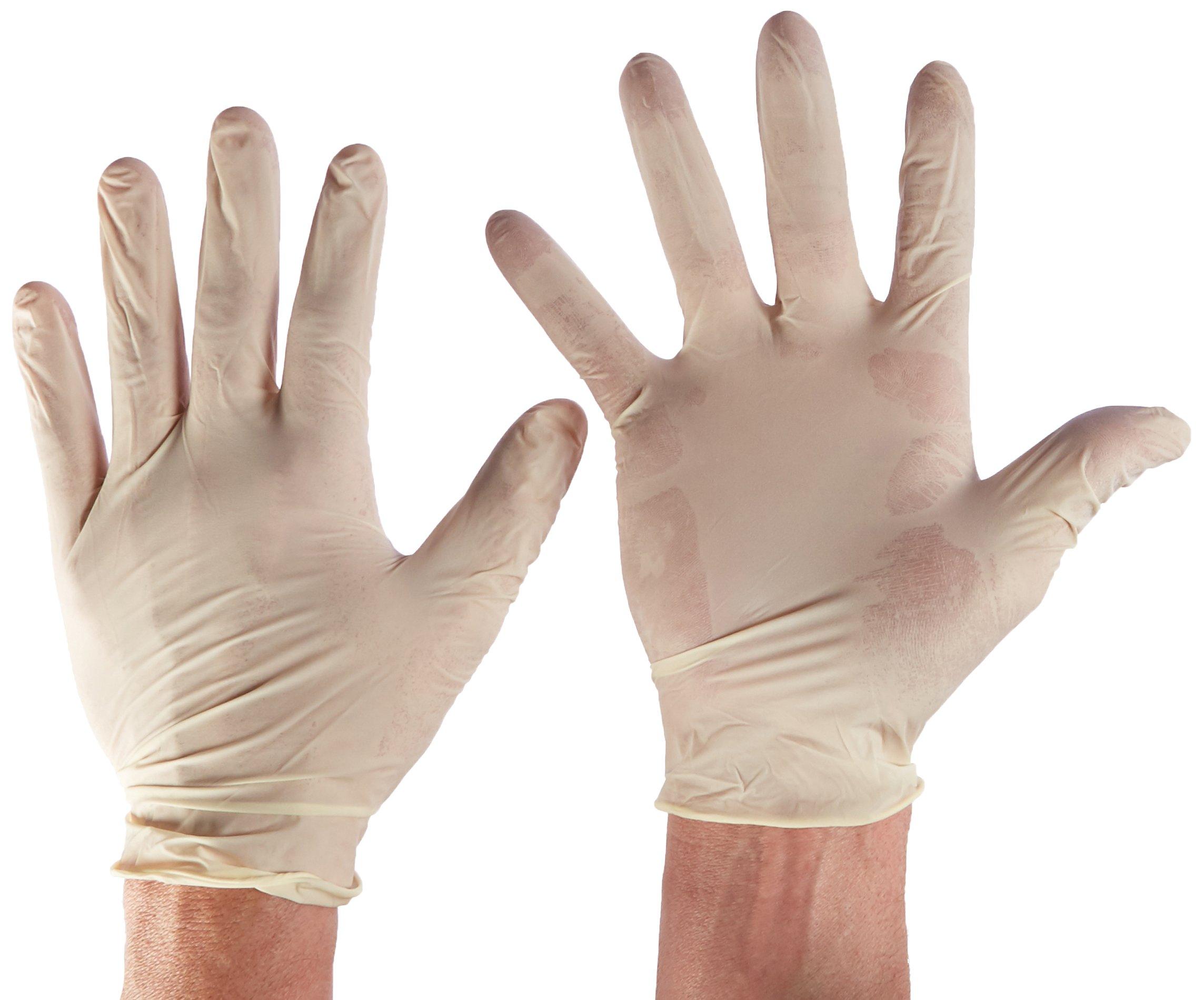 Tradex LXL5201 Ambitex Latex Powdered Free Multi-Purpose Gloves, X-Large, Cream (Pack of 1000)