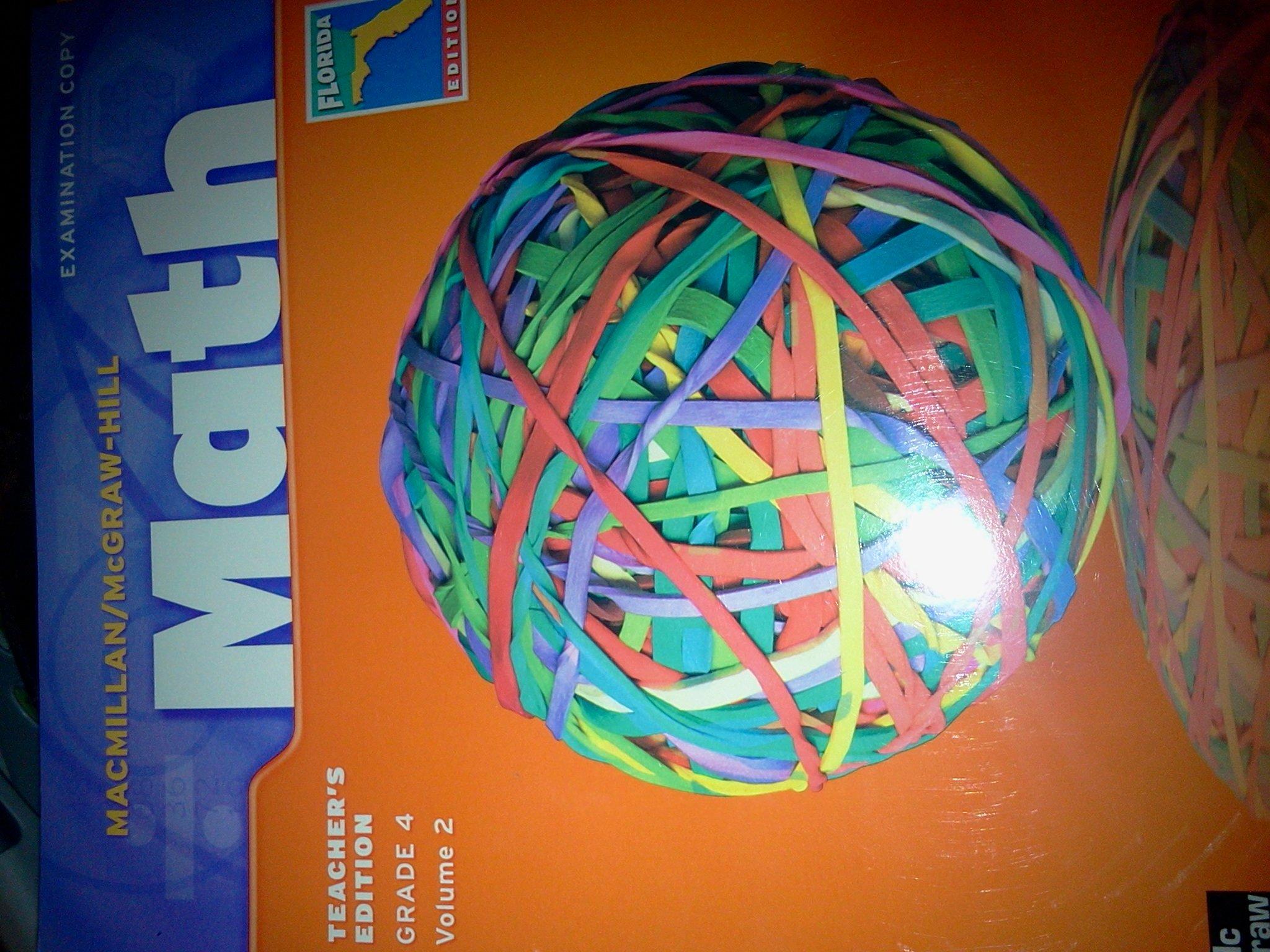 Macmillan / Mcgraw-hill Math Teacher`s Edition Grade 4