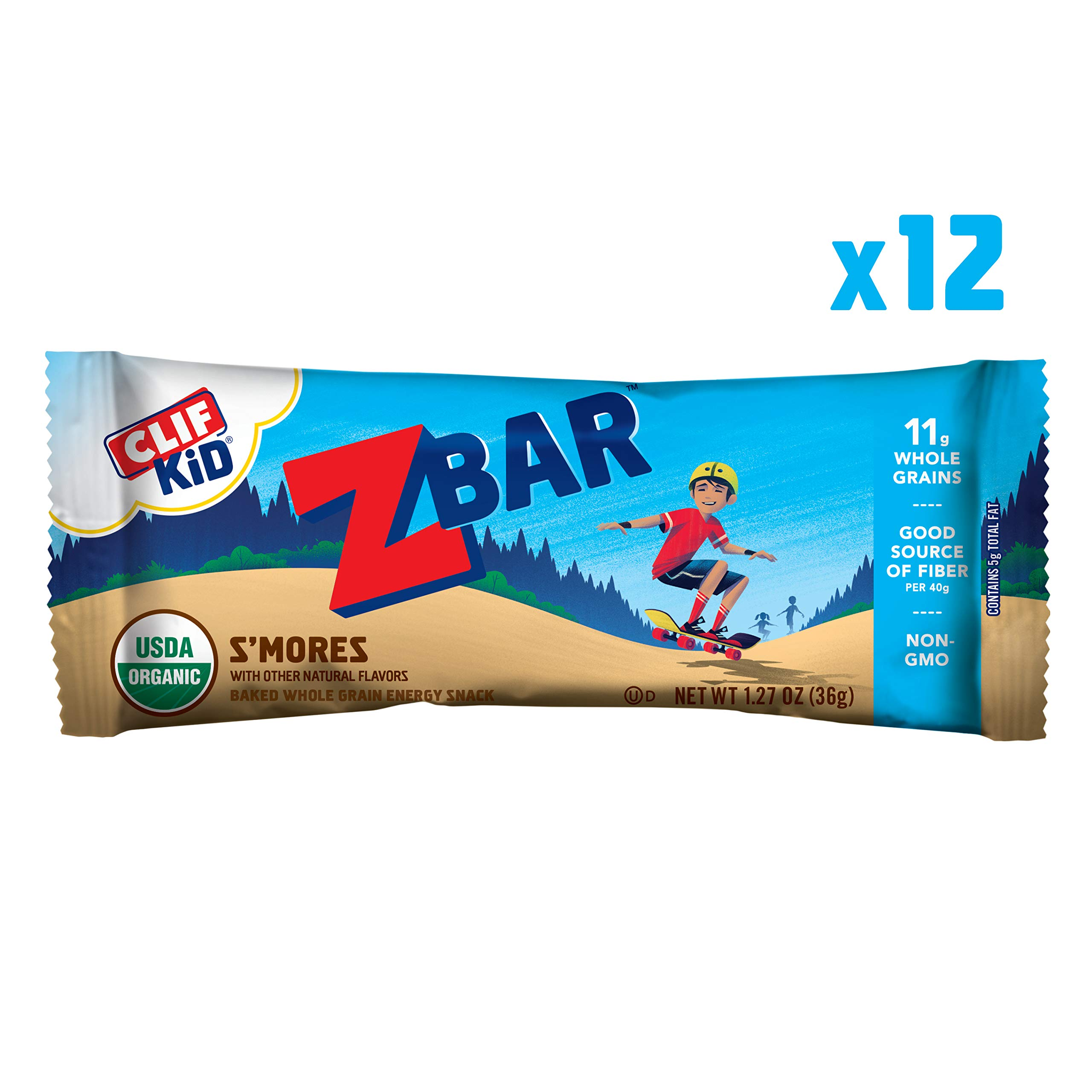 Clif Kid Z Bar Organic Energy Bar Smore's, 12 Count by Clif Bar