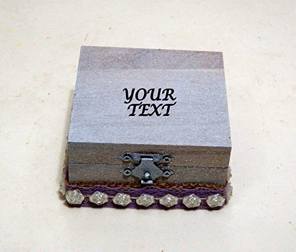 Caja de Anillo de Boda, Regalo Boda, Caja de Anillo de Madera, Personalizada