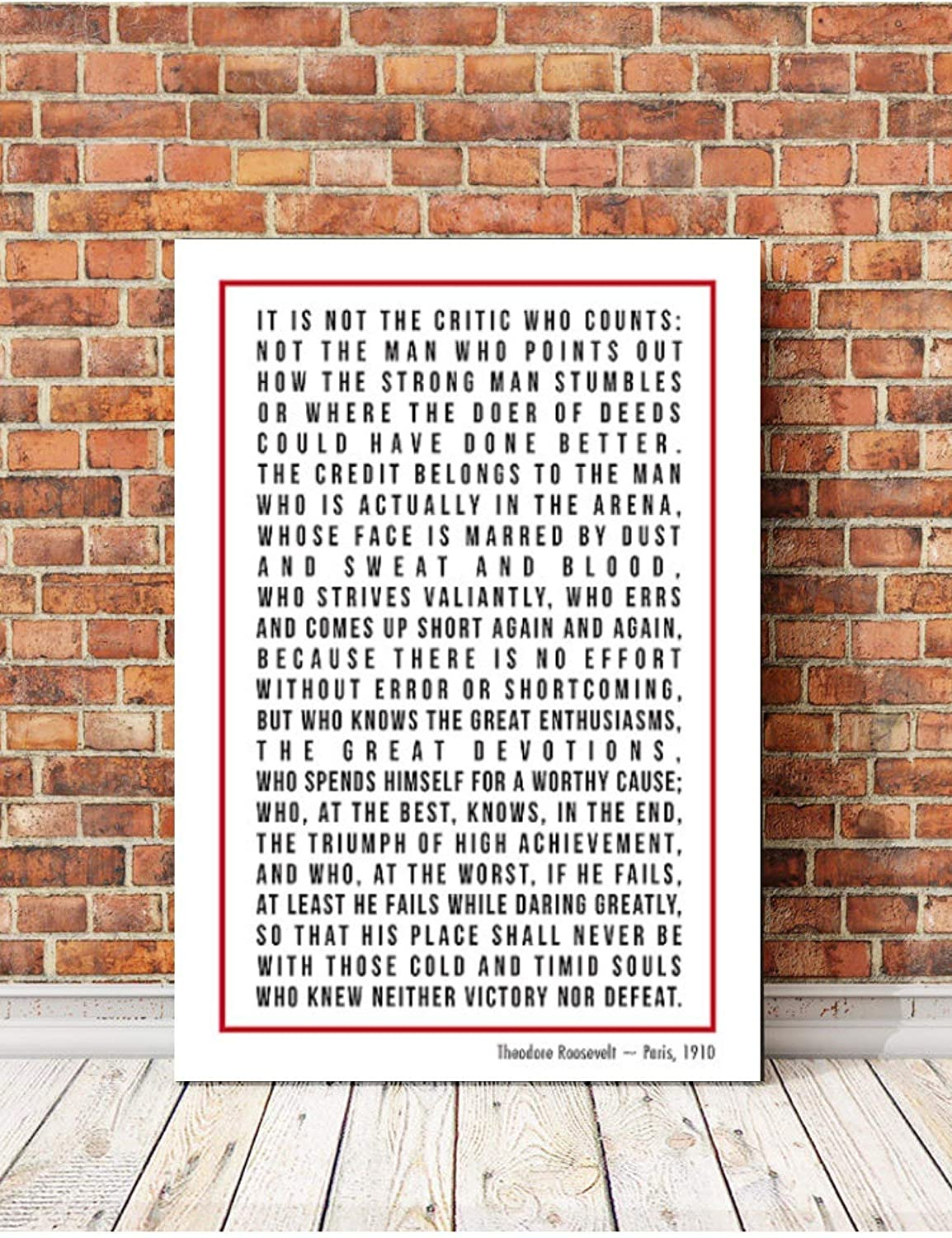 Amazon com: Famous Speeches on Canvas, The Man In The Arena