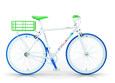 Mbm Prisma H52 Bicicletta Scatto Fisso Acciaio Uomo Bianco 52 Cm