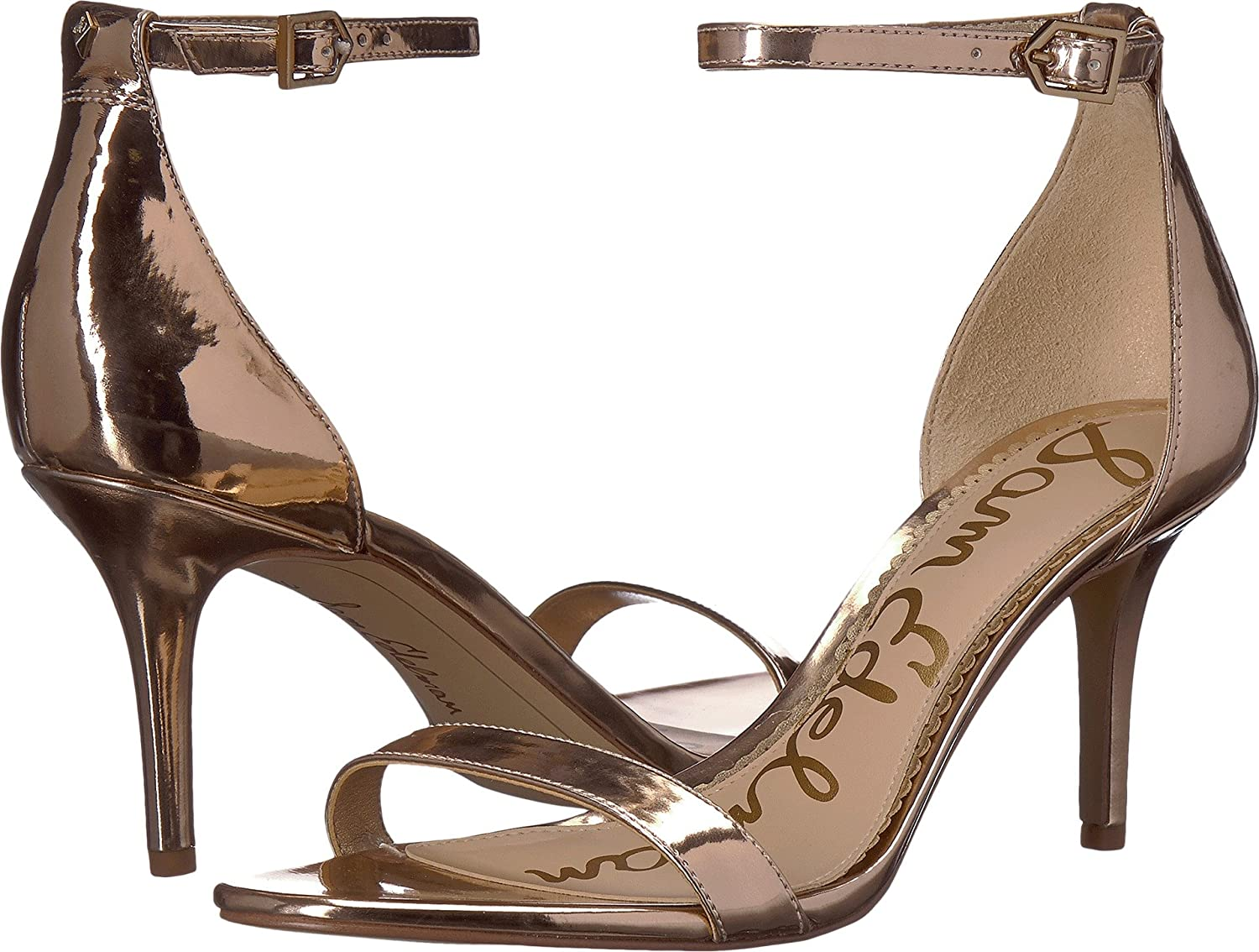 Sam Edelman Women's Patti Heeled Sandal B072W4DGXJ 7 W US|Oro Remato