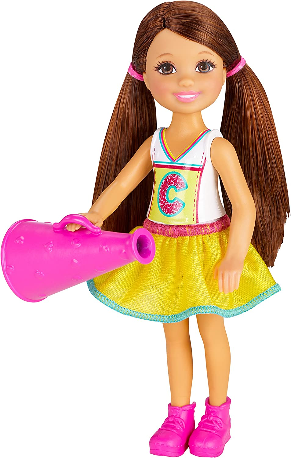 Amazon Com Barbie Sisters Chelsea And Friends Doll Cheerleader Toys Games