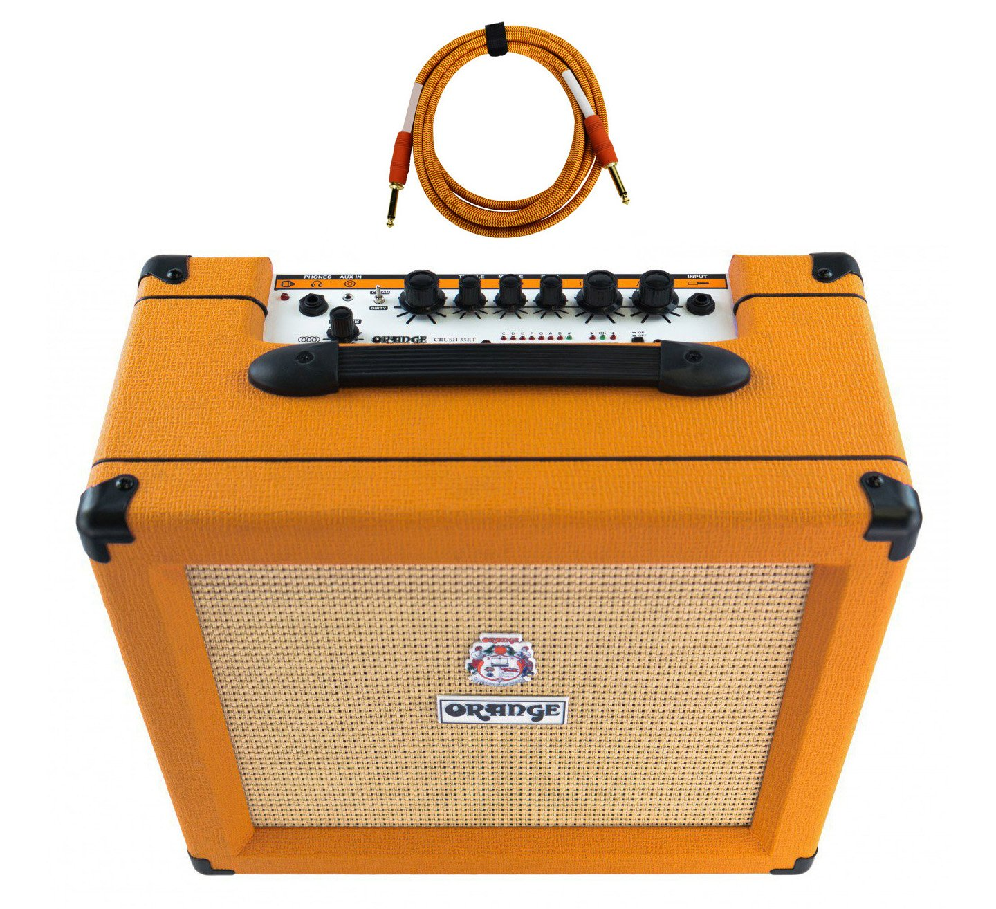 Orange Crush 35RT 1x10'' 35-Watt Combo with Reverb and Tuner Free Cable Bundle