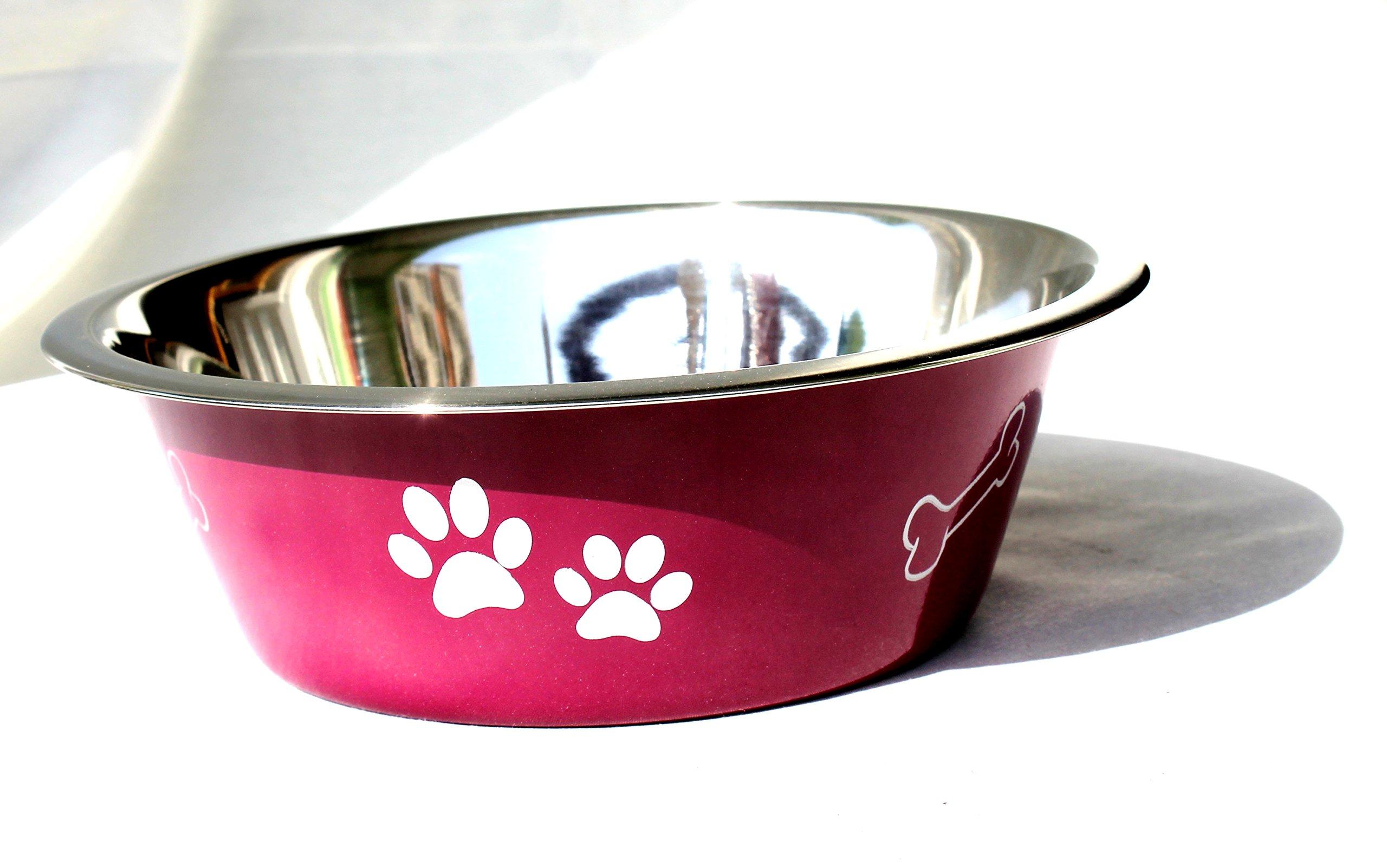 STREET CRAFT Stainless Steel Pet/Small Animals Feeding Bowl (Purple)