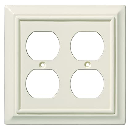 Brainerd 126376 Wood Architectural Double Duplex Outlet Wall Plate