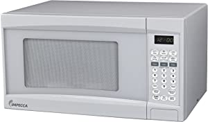 Impecca Microwave Oven with 10 Power Levels and Digital Display, 0.7 Cubic Feet, White