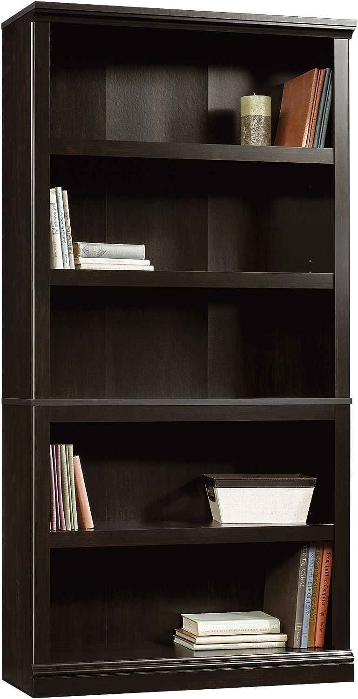 Sauder 5 Shelf Bookcase, Estate Black finish