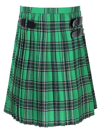 CHICTRY Falda Escocesa Trandicional para Hombre Plisada Escocesas ...