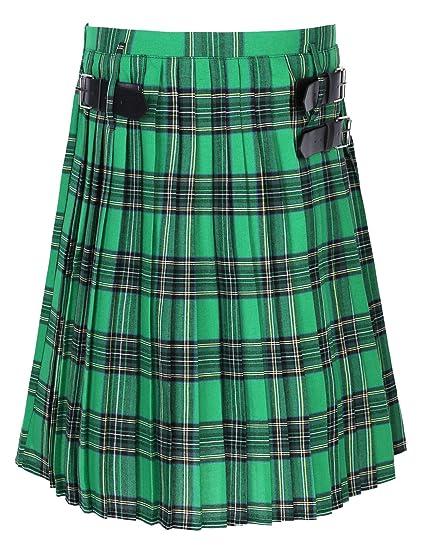 inlzdz Hombre Falda Escocesa Scottish Highland Falda Tradicional ...