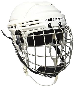 Bauer Helm 2100 Combo mit Gitter - Casco de hockey sobre hielo, color blanco ,