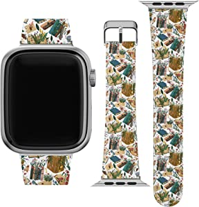 Lex Altern Band Compatible with Apple Watch Series 6 SE 5 4 3 2 1 38mm 40mm 42mm 44mm Bookworm Aesthetic Wristband Floral Books Stylish Belt Wildflowers Cute Print Durable Replacement Strap Slim wh442