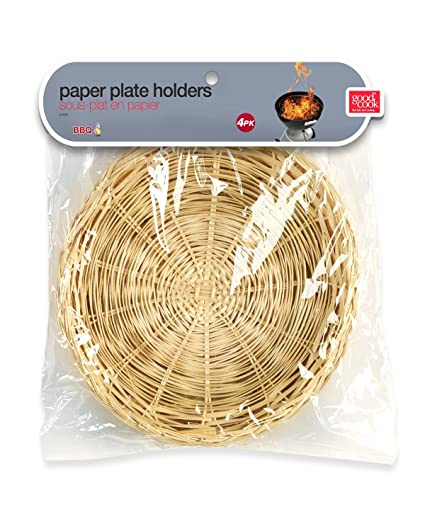 Good Cook Paper Plate Holder Bamboo  sc 1 st  Amazon.com & Amazon.com | Good Cook Paper Plate Holder Bamboo: Wicker Plate ...
