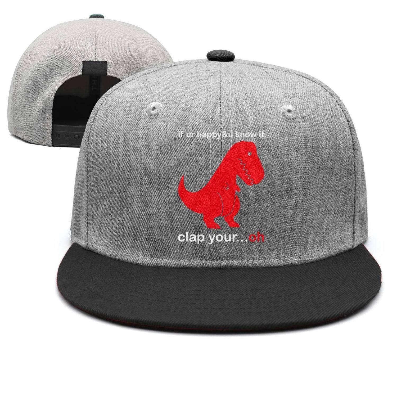 Baseball Cap Clap Your Oh Sad T-Rex Snapbacks Truker Hats Unisex Adjustable Fashion Cap