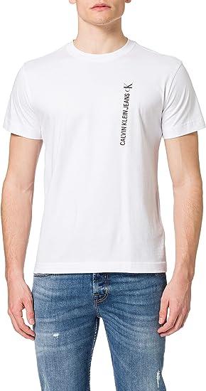 TALLA L. Calvin Klein CK Vertical Back Graphic tee Camiseta para Hombre