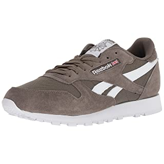 Reebok Men's Classic Leather Walking Shoe, Estl-Terrain Grey/White, 9 M US