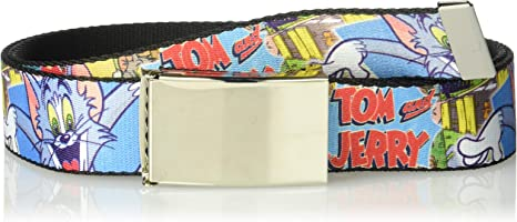 Buckle-Down Unisex-Adults Web Belt Tom and Jerry 1.25