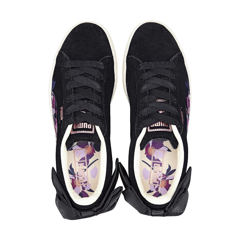 Puma Erwachsene Erwachsene Erwachsene (Unisex) Suede Bow Flowery Schwarz b2126f