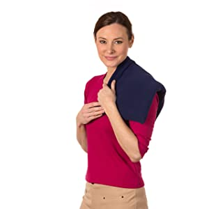 Sunny Bay XL Body Heating Pad Lavender Aromatherapy, Washable Cover, Heat Therapy Pad for Sore Neck, Back & Shoulder Muscle Pain Relief – Reusable, Non-Electric Heat or Cold Compress, Navy Blue