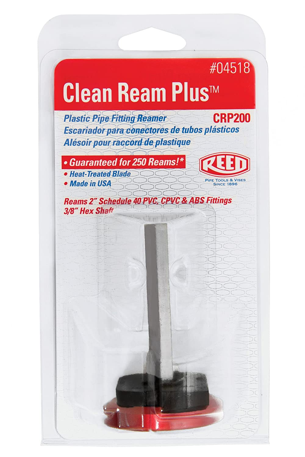 Reed Tool CRP150 Clean Ream Plus with 3/8-Inch Hex Shaft, 1-1/2-Inch ...