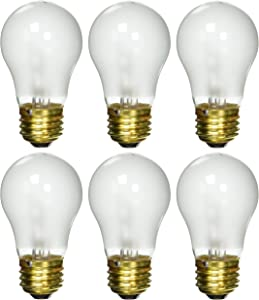 6 Pack 25 Watt Decorative A15 Incandescent Light Bulb Medium E26 Standard Household Base Frost