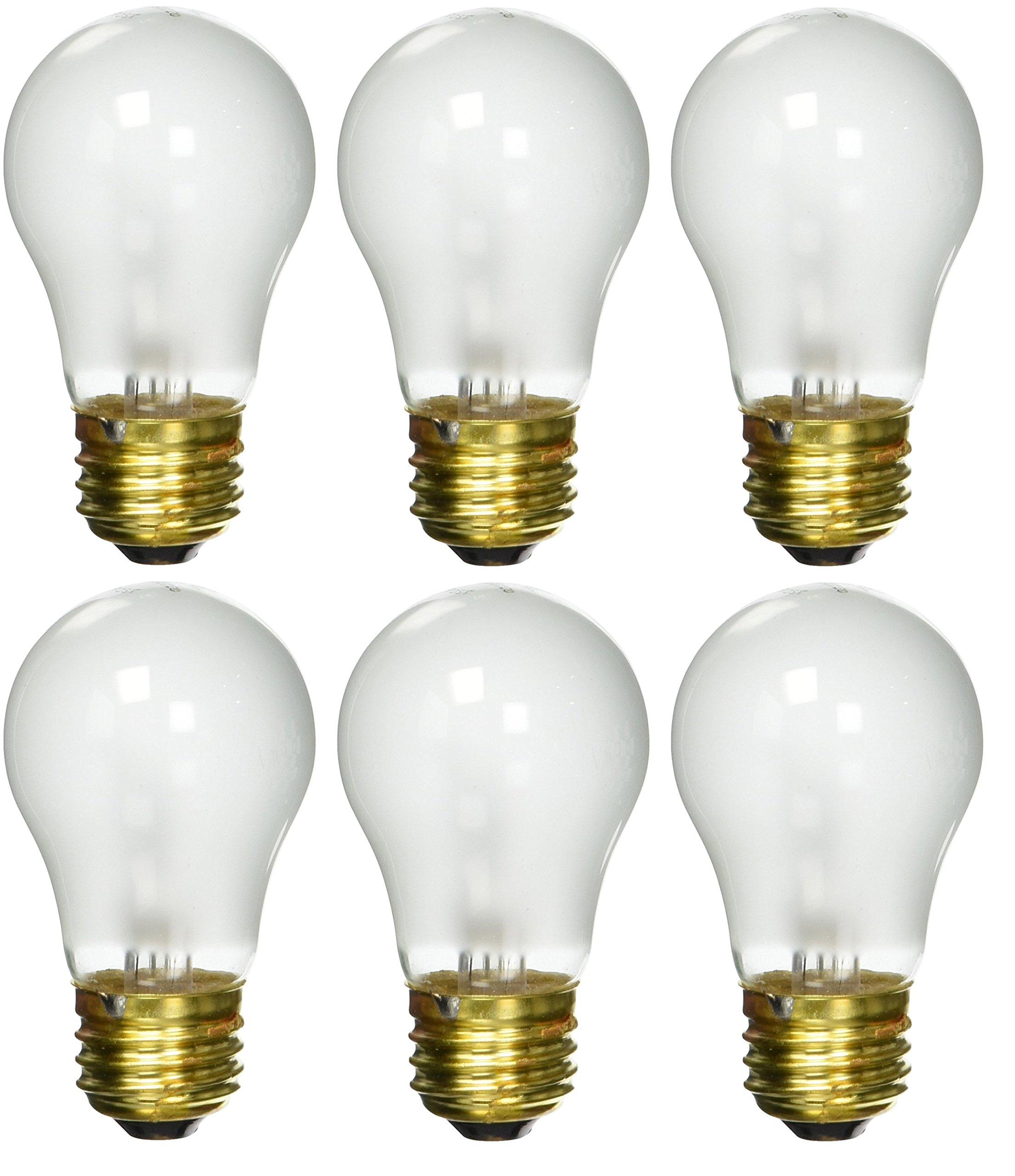 6 pack 40 Watt Decorative A15 Incandescent Light Bulb Medium E26 Standard Household Base Frost