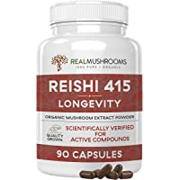 Reishi Mushroom Capsules for Stress, Immunity, Vitality & Relaxation, 90 Caps Vegan...