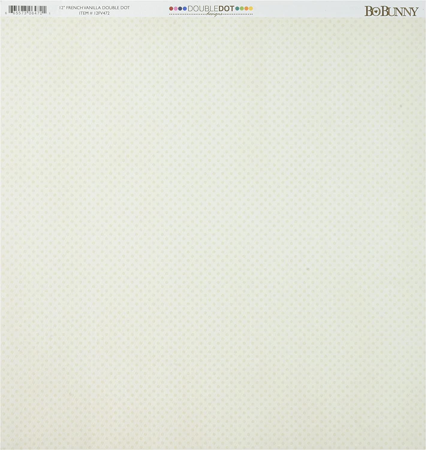 12 x 12 French Vanilla 25 Sheets Per Pack Bo Bunny 12FV472 Double Dot Double-Sided Textured Cardstock Assorted