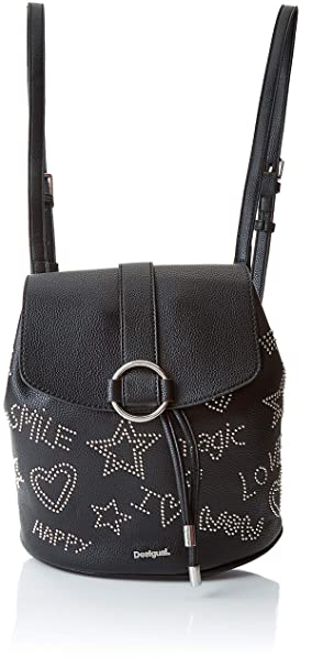 d546b6a155 Desigual Bols_galaxy Mini Backpack - Borse a zainetto Donna, Nero (Negro),  10.6x24x22.3 cm (B x H T): Amazon.it: Scarpe e borse