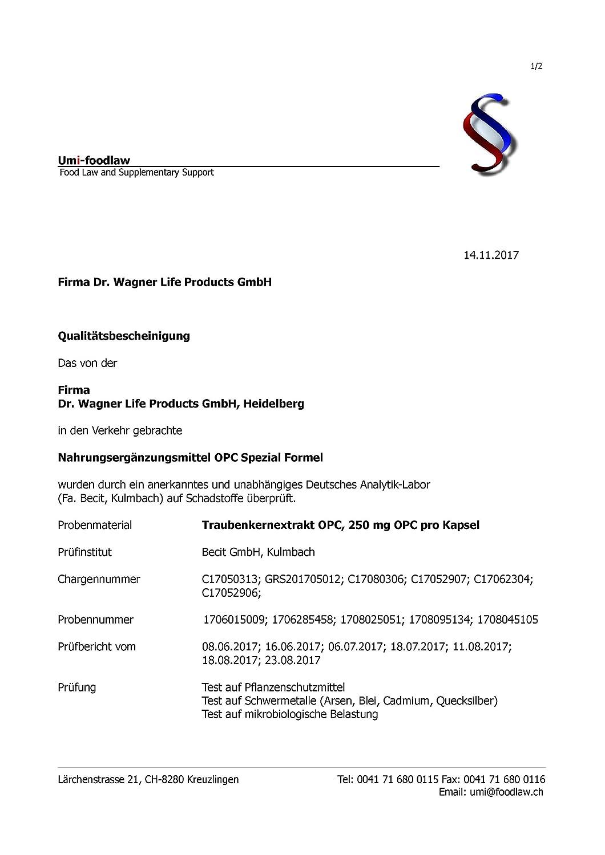OPC Preis-Leistungs-SIEGER* - Dr.med.Wagner Erfolgs-Formel - hochdosierte  4-Monatspackung mit 250 reinem OPC pro Kapsel (525mg Traubenkernextrakt),  ...
